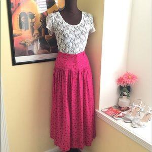 Rena Rowan Maxi Pink Printed Skirt Size 8